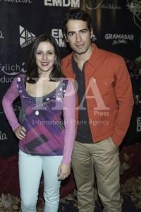 Ruth Núñez y Alejandro Tous posando en el photocall