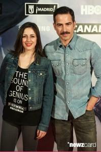 Ruth Núñez y Alejandro Tous en la inauguración de la exposición de 'Juego de Tronos'.