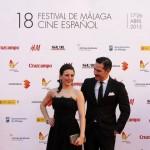 Ruth Núñez y Alejandro Tous en la Inauguración del Festival de Cine de Málaga