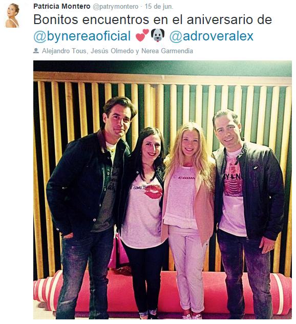 Alex Adrover, Ruth Núñez, Patricia Montero y Alejandro Tous en el aniversario de By Nerea