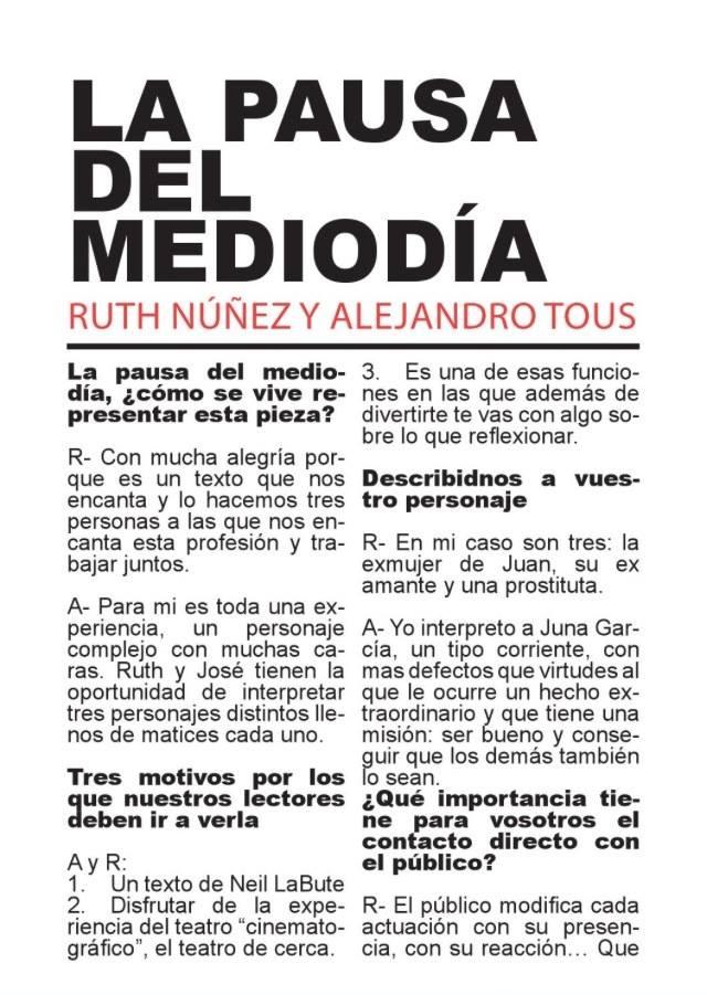 Entrevista de Ruth Núñez y Alejandro Tous en Pllaneta 28