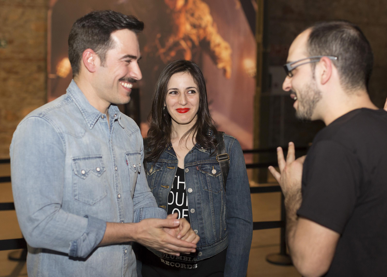 Ruth Núñez y Alejandro Tous en la inauguración de la exposición de Juego de Tronos