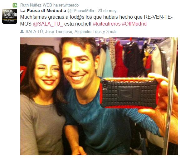 Ruth Núñez y Alejandro Tous felices por el lleno de 'La Pausa del Mediodía'