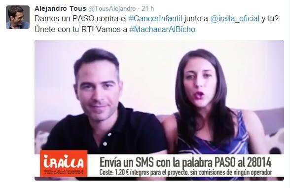 Ruth Núñez colabora con la Fundación Iraila contra el cáncer infantil