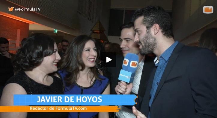 Inma Cuevas, Ruth Núñez y Alejandro Tous en la  presentación de Atreseries