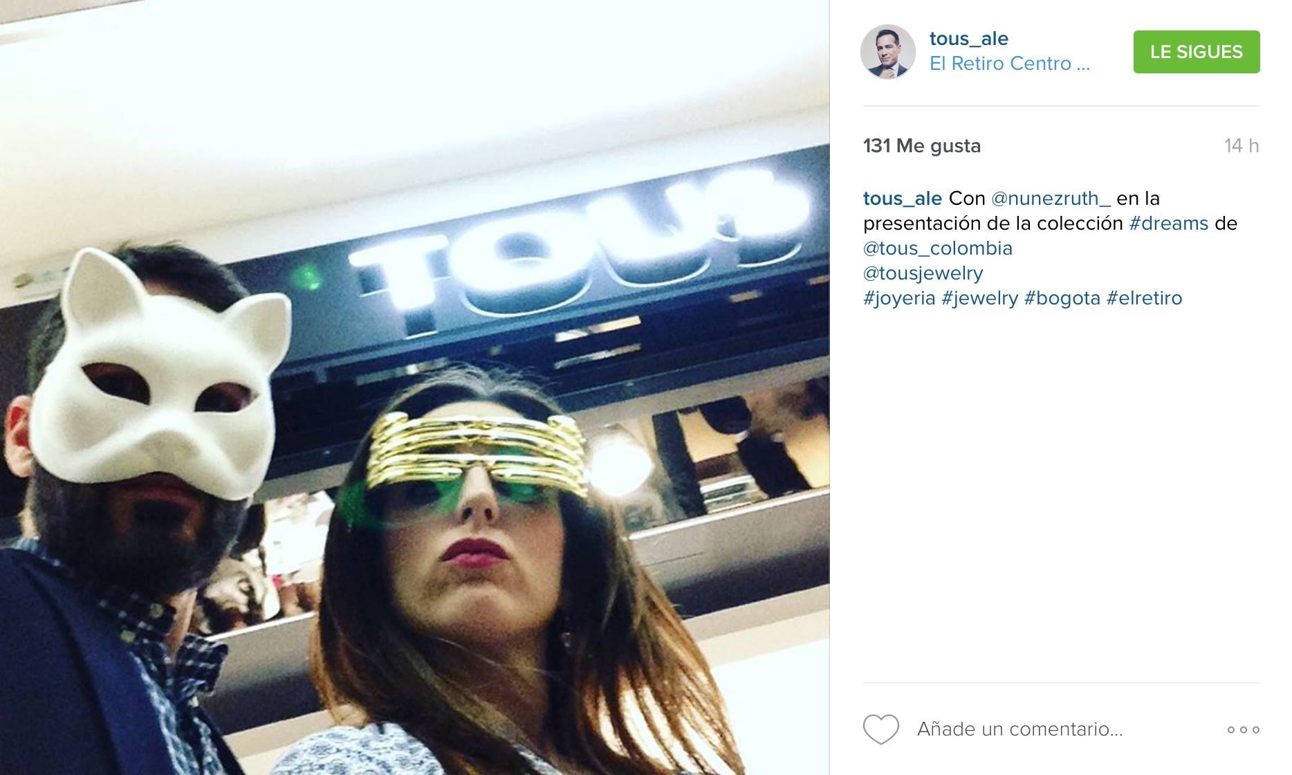 Ruth Núñez y Alejandro Tous en la presentación de la nueva colección de Tous