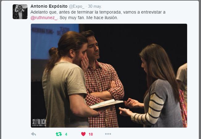 Ruth Núñez con Alejandro Tous y Antonio Expósito en la presentación de 'Selfiología'