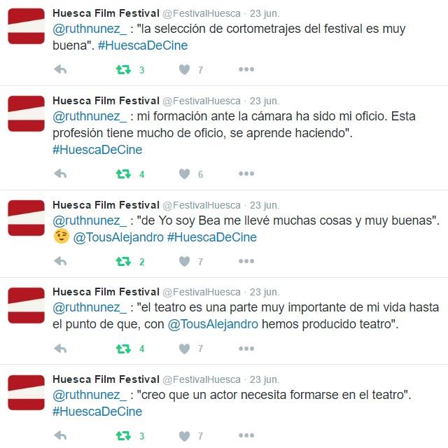 'Vermú con Ruth Núñez durante el Festival Internacional de Cine de Huesca
