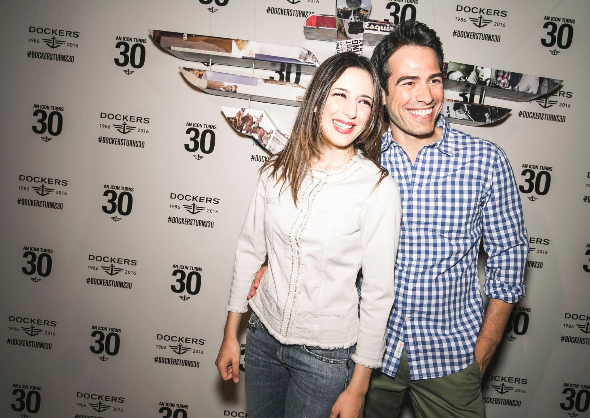 Ruth Núñez en el 30 aniversario de la firma Dockers