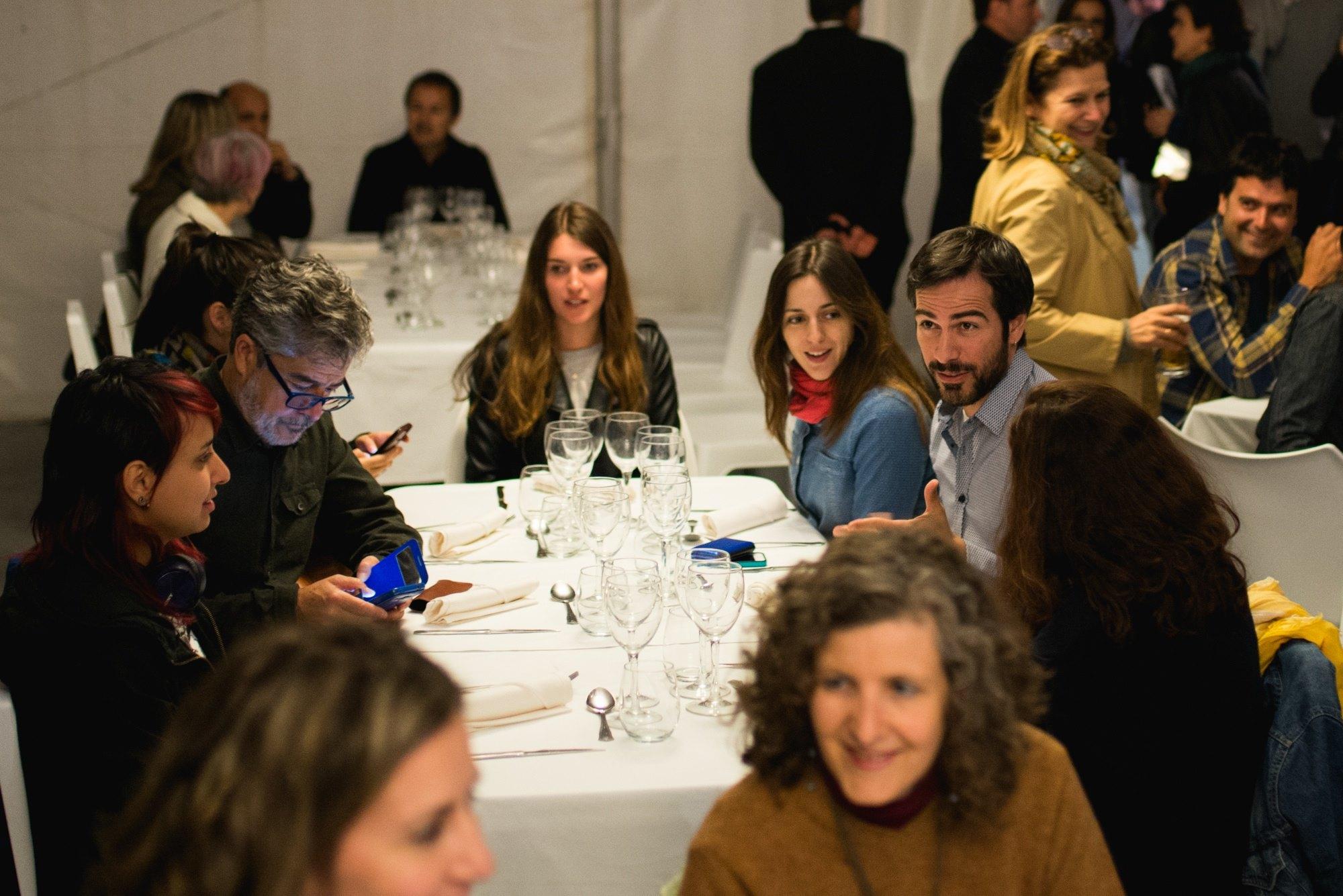 Ruth Núñez durante la sesión de Gastrocine del Festival Internacional de Cine de Huesca