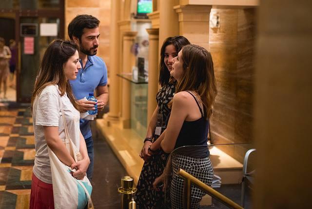 Ruth Núñez en el pase de 'Gernika' en el Teatro Olimpia