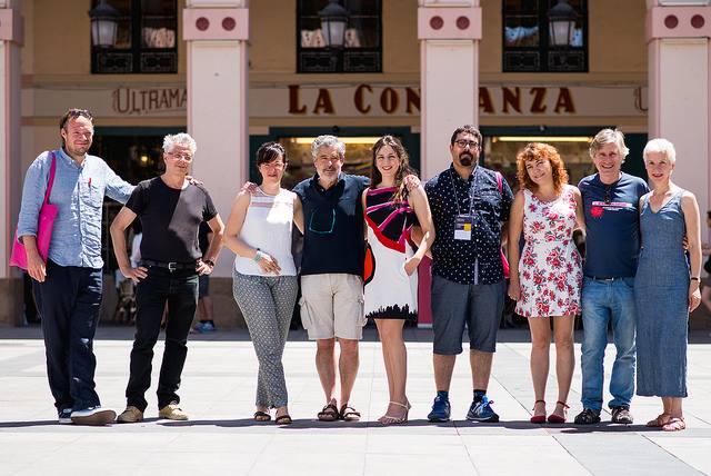 Ruth Núñez y otros miembros del jurado del Festival de Cine de Huesca