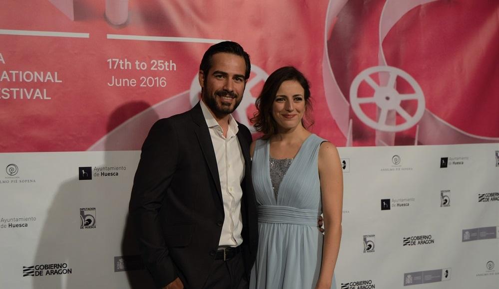 Ruth Núñez y Alejandro Tous en la inauguración del Festival Internacional de Cine de Huesca