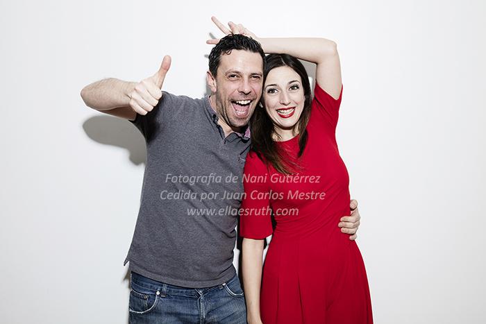 Juan Carlos Mestre y la actriz Ruth Núñez