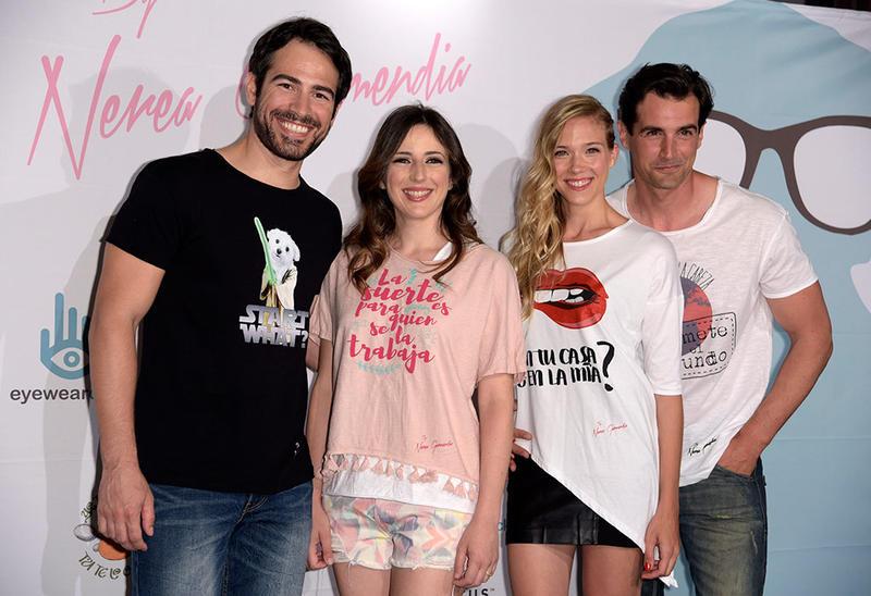 Ruth Núñez, Alejandro Tous, Patricia Montero y Álex Adrover en el segundo aniversario de ByNerea