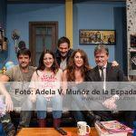 Ruth Núñez junto a sus compañeros de reparto en Burundanga - en el Teatro Lara