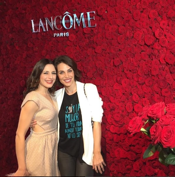 Ruth Núñez en la Maison Lancôme junto a Nerea Garmendia